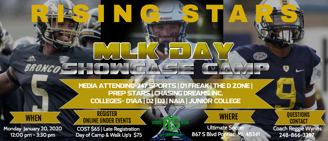 MLK Showcase Camp - 1/20/20 [ONLINE REGISTRATION CLOSED]