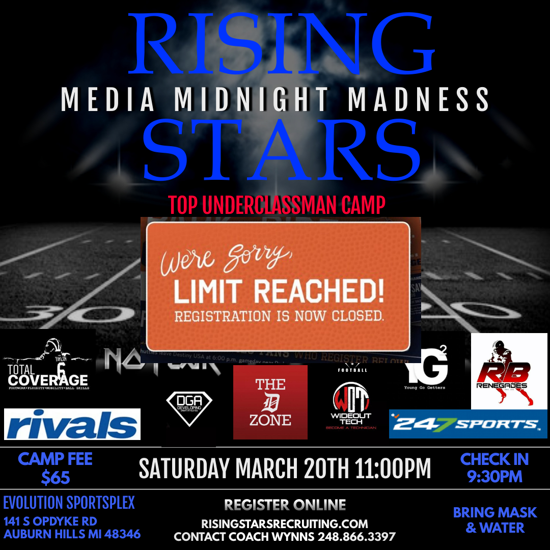 MEDIA MIDNIGHT MADNESS TOP UNDERCLASSMAN CAMP *REG CLOSED/CAPACITY REACHED**