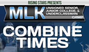2019 MLK Combine Times